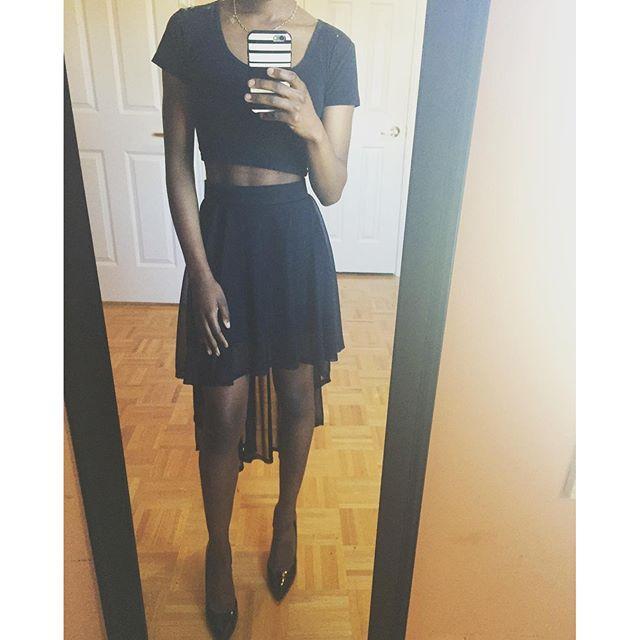 H&M High Low Skirt