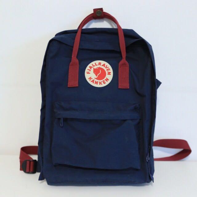 Kanken Classic Navy Blue& Red