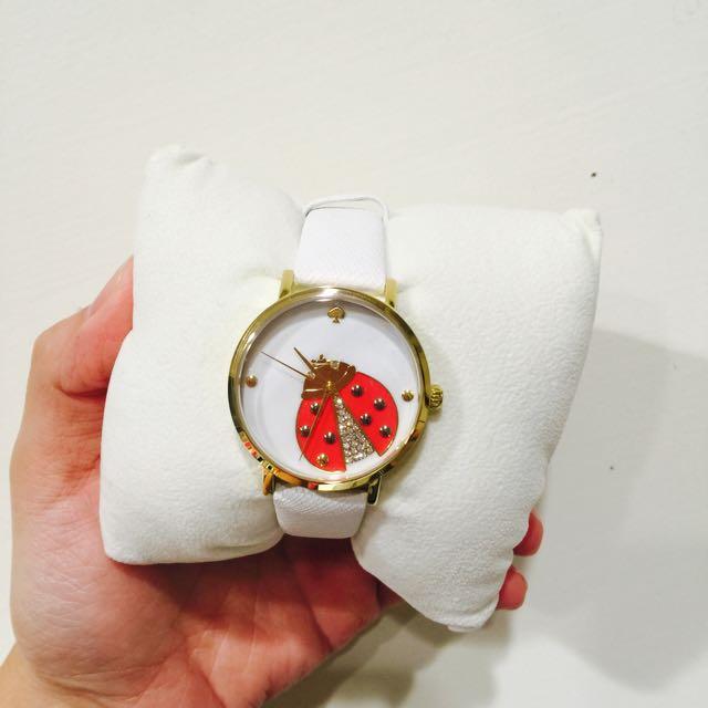 Kate spade瓢蟲水鑽腕錶 郭雪芙配戴款
