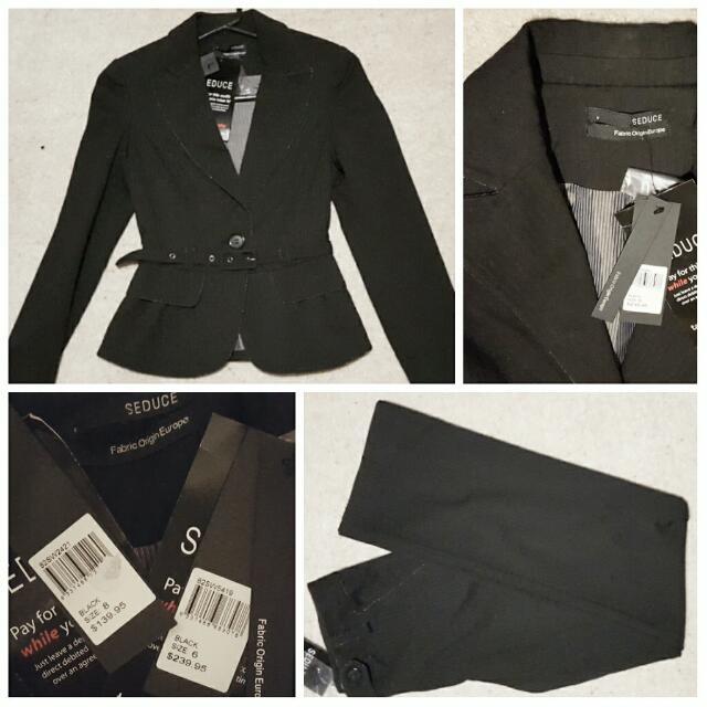 NEW Seduce Two-Piece Suit - Size 6/8 (RRP $378)