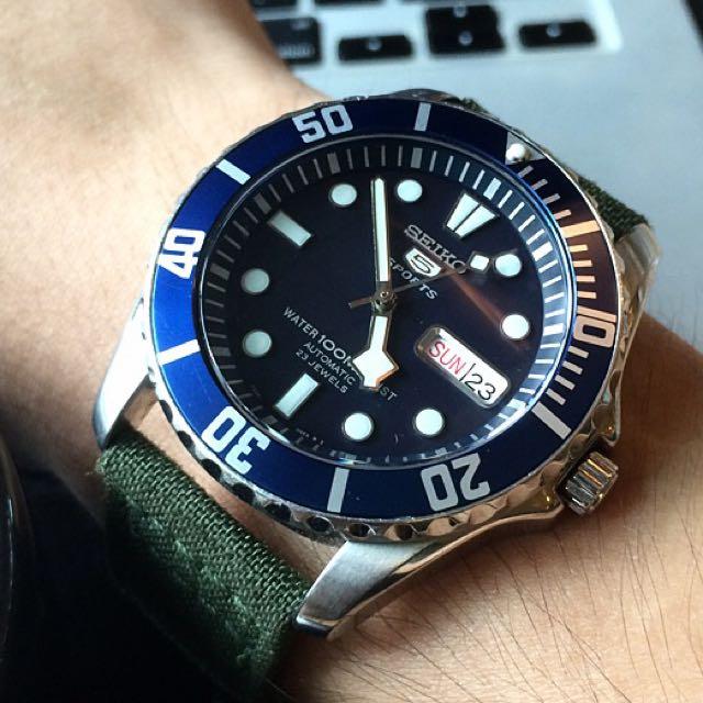 Reduced Seiko Sea Urchin Snzf Snowflake Mod Nh36 Men S