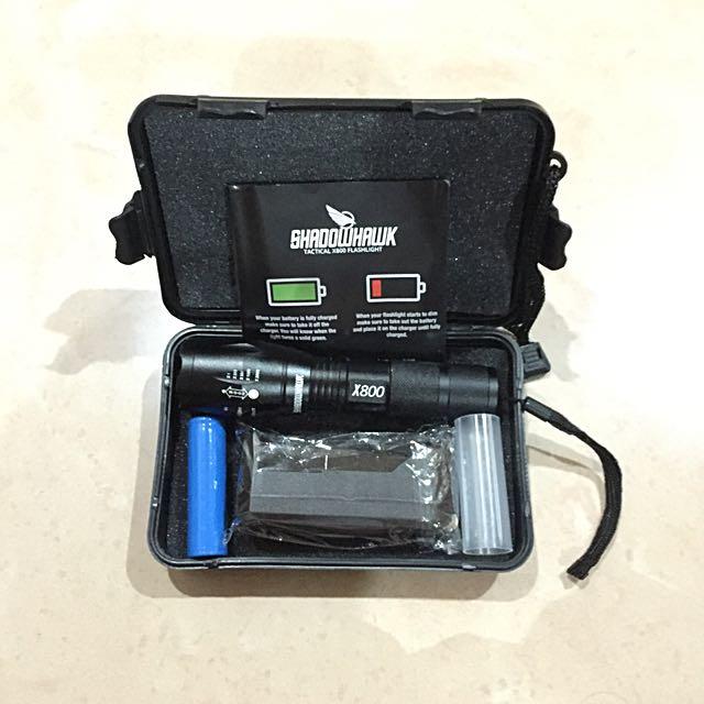 SHADOWHAWK TACTICAL X800 FLASHLIGHT
