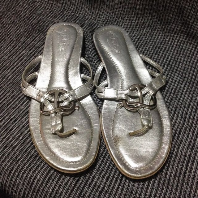 TOD'S Size 39 Leather Sandals