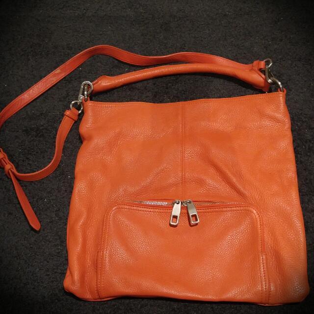 Trenery Genuine Leather Bag - Orange
