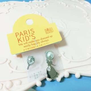 兩件499 Paris Kiss Disney 珍珠公主耳環 耳釘