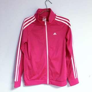 Adidas 桃紅立領外套💖
