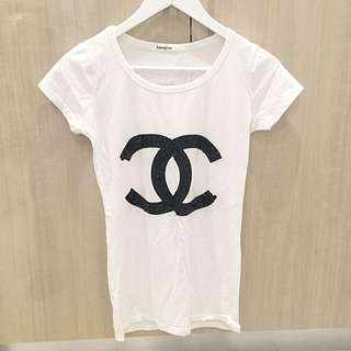 CC Sequins Logo T-shirt