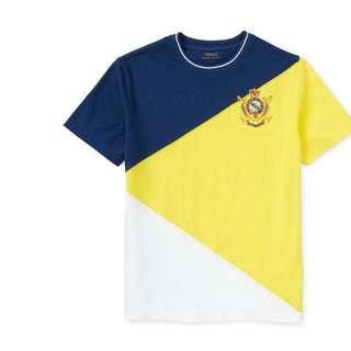 Ralph Lauren小童4T拼接三色衣