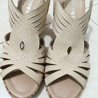 Beige Wedges (Sandals)
