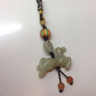 Jade Horse Keychain