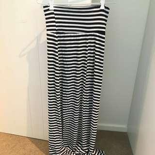 Ice - Long Stripy Skirt Size 8