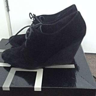 Suede Wedge Shoe