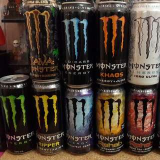 Monster Energy 500ml Cans Lot