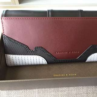 MAKE AN OFFER: Charles & Keith Burgundy wallet