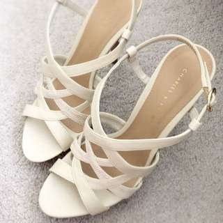 MAKE AN OFFER: Charles & Keith Ankle Strap Heels