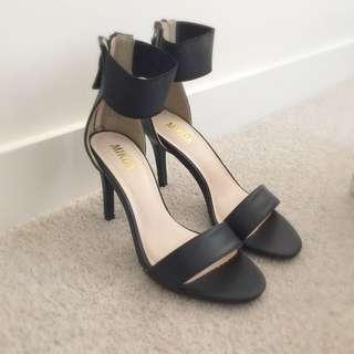 MAKE AN OFFER: Black Ankle Strap Heels