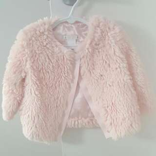 Girls Fluffy Pink Jacket