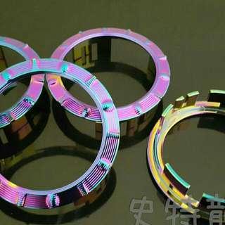 光陽油箱飾環燒鈦