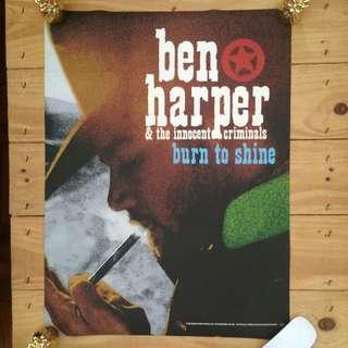 "Poster - Ben Harper ""Burn To Shine"""