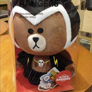 LINE Rangers Soft Toy Thunder Brown Plush Doll