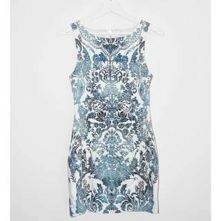 BNWT Forever New 'Natalie' Printed Bodycon Dress - Size 8