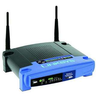 Linksys wireless-g 2.4 ghz 54mbps broadband router
