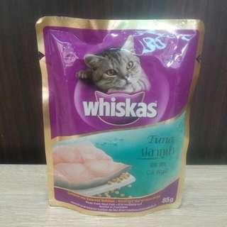 ★六包特價NT100元★Whiskas偉嘉妙鮮包成貓專用鮪魚口味85g一包原價NT30元