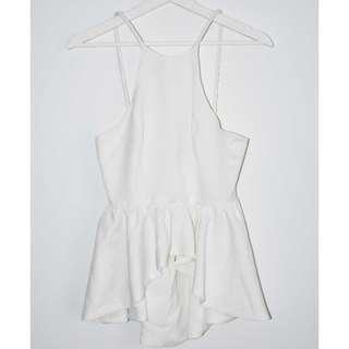 BNWT Angel Biba White Peplum Top - Size 8