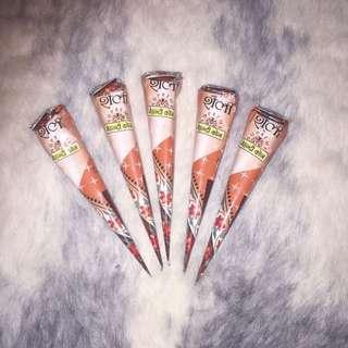 *pending* 5 Dark Brown Henna Cones