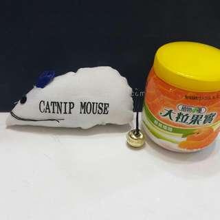 【全新】寵物用貓咪老鼠鈴鐺玩具