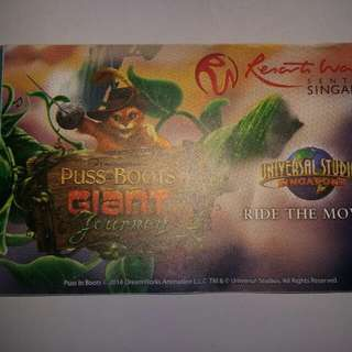 Universal Studio Singapore Ticket ( 1 Adult) $10 Food Voucher
