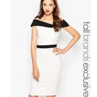 Asos Paper Doll Off Shoulders Dress