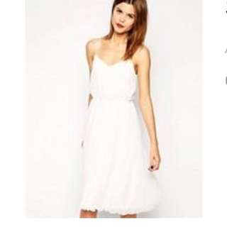 Asos White Flowy Dress