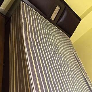 單人加大床組(床頭櫃+床箱)不含床墊(三重自取)