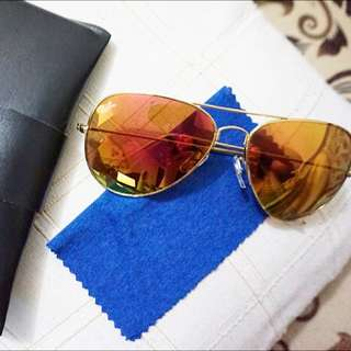 💖 Yellow Ray Ban With Pouch