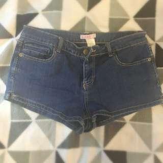 Supré Denim Shorts. Size S