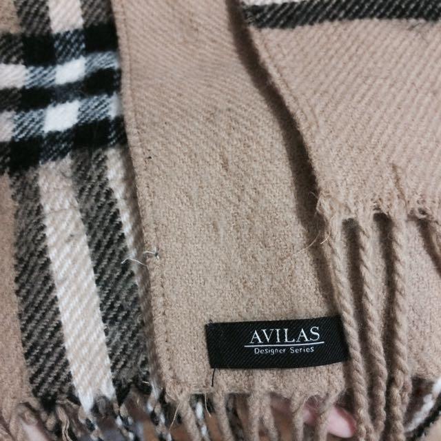 大口袋雙面格紋圍巾