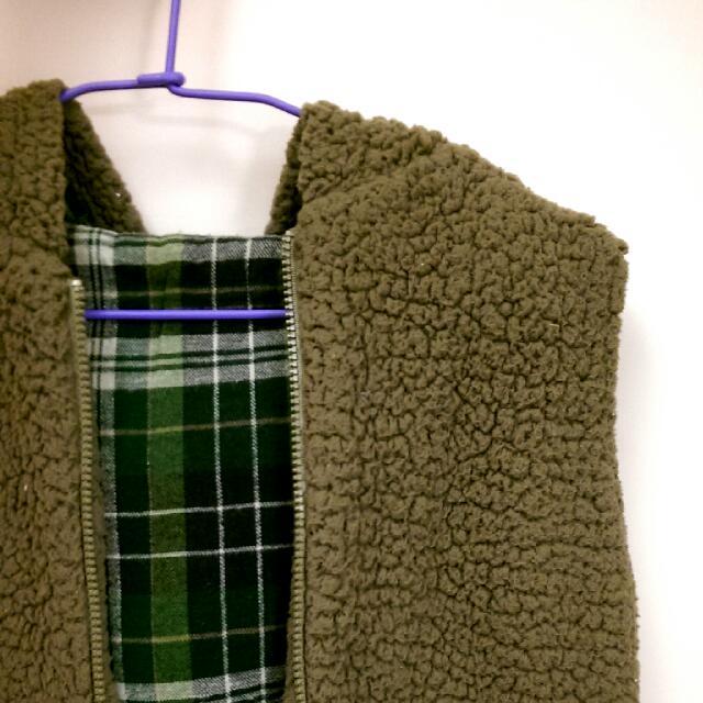 暖暖咖啡熊背心外套