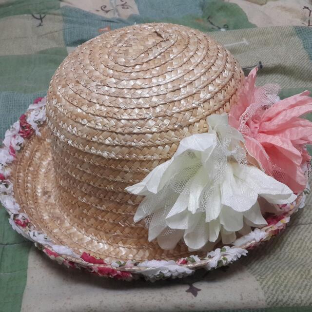 [全新含運不議價]鄉村風蕾絲草帽