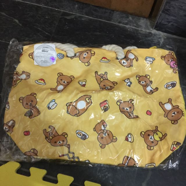 拉拉熊麻繩水餃包