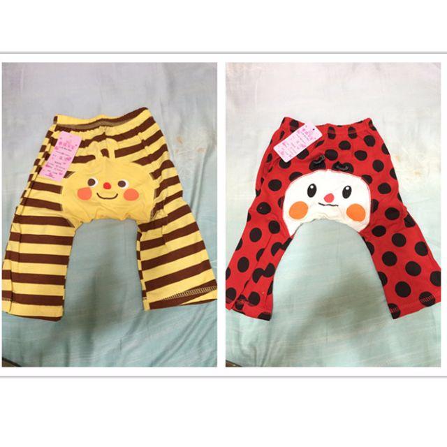 [羊羊媽私物] 學步褲2件組- 全新 (黃色尺寸80.紅色90)