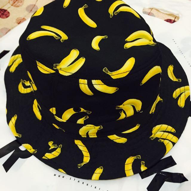 免運⚡️香蕉漁夫帽 黑色 香蕉帽 漁夫帽