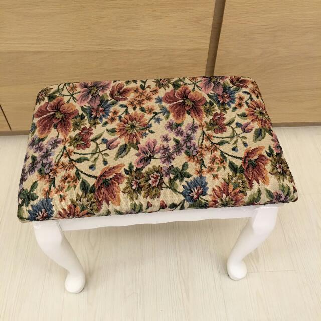 鄉村風 復古花化妝椅 HOLA IKEA