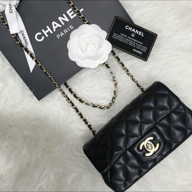 34639efe280b Like New Chanel Extra Mini Classic Flap Bag In Black Lambskin and Matt GHW,  Luxury on Carousell