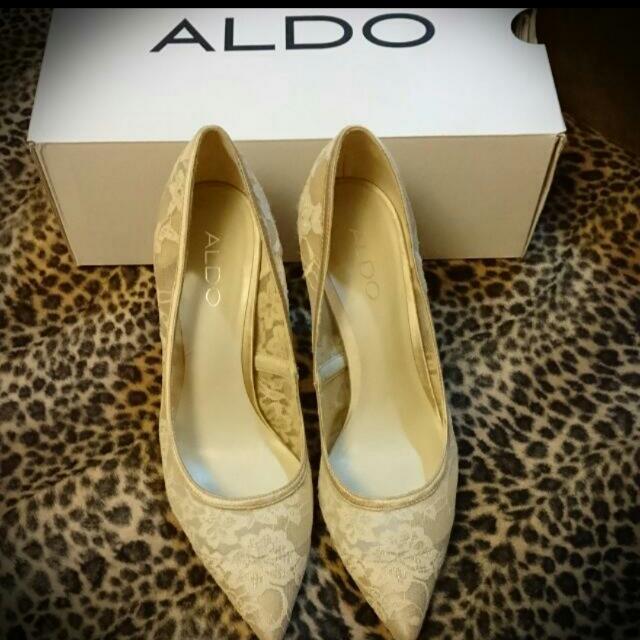 ALDO(全新)米色蕾絲高跟鞋