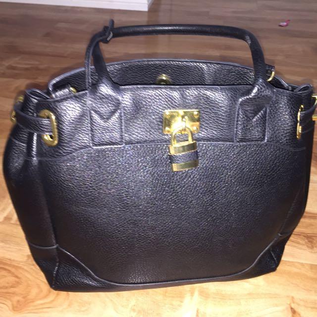 ASOS black faux leather bag