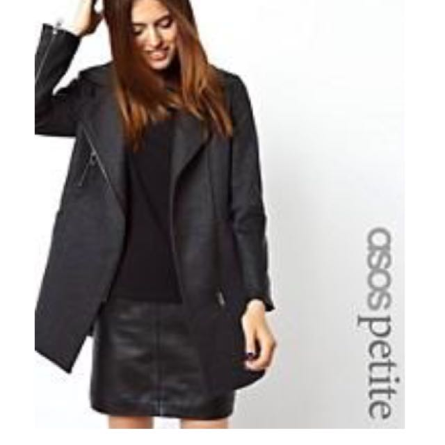 Asos Jacket with Leather Details