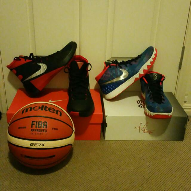 Basketball Shoes 1x Nike Hyperdunk 2015 Size 11 1x Kyrie Irving Signature Size 11.5