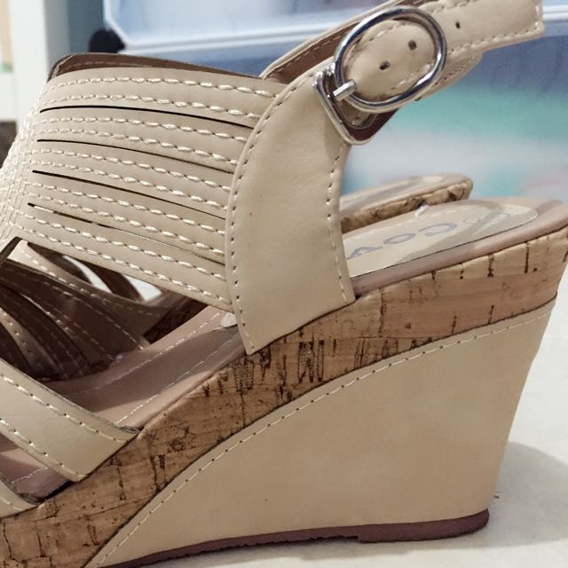 Beige Wedges (Sandals)