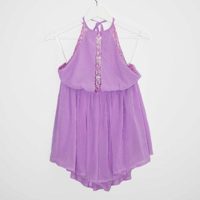 BNWT Sabo Skirt 'Lilac Wind' Lace Backless Playsuit - Size 8
